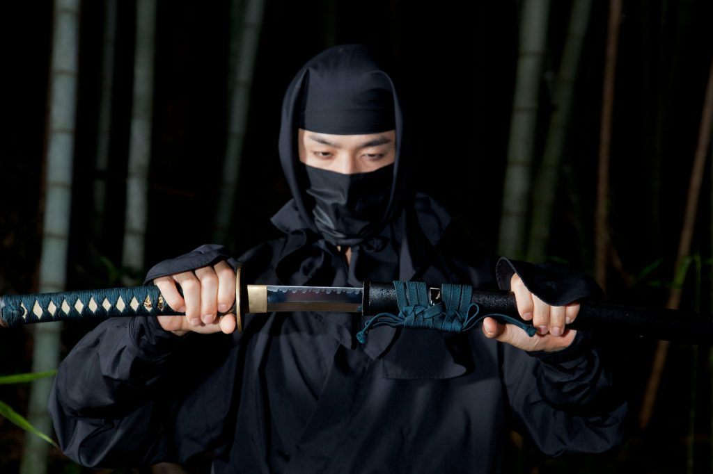 Ninjas en el Japón Feudal, kanji ninja, ninja en japones
